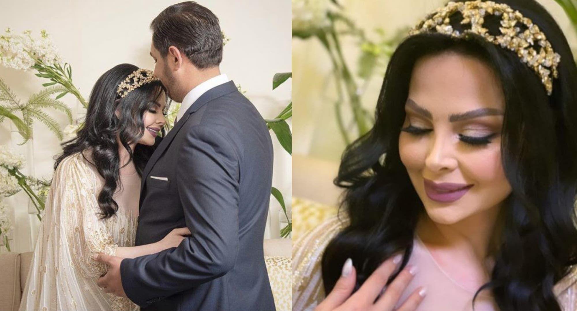 ديانا كرزون تزف للجمهور خبر ا سار ا بالعباءة الأردنية والوشاح الأبيض Wedding Dresses Dresses Fashion