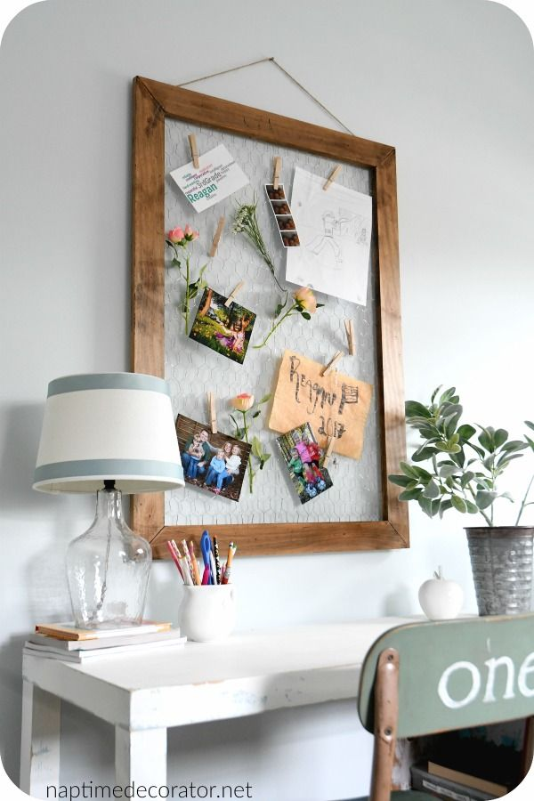 chicken wire bulletin board | For the Home - DIY | Pinterest ...