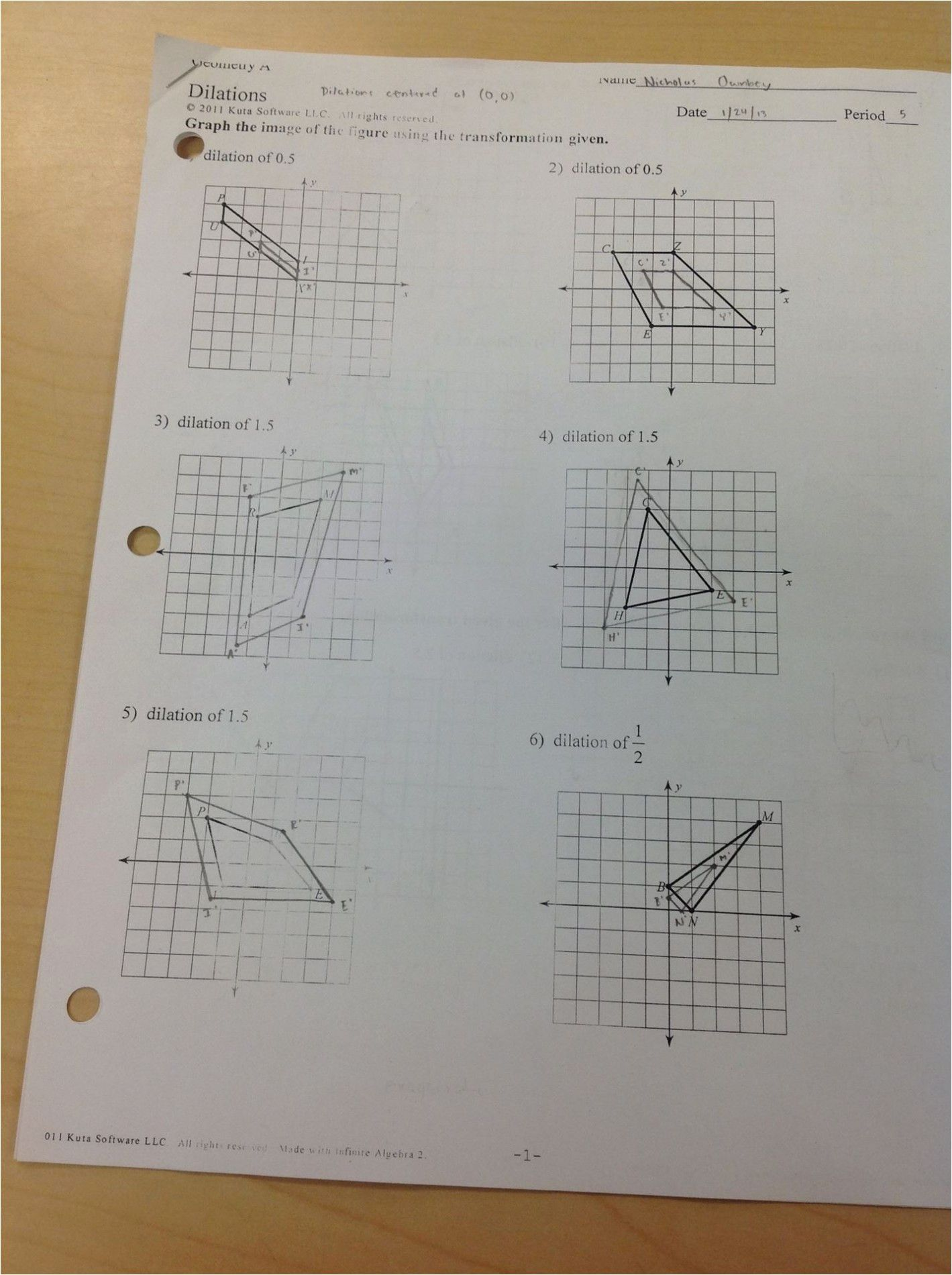 Formal Dilations Worksheet Answers