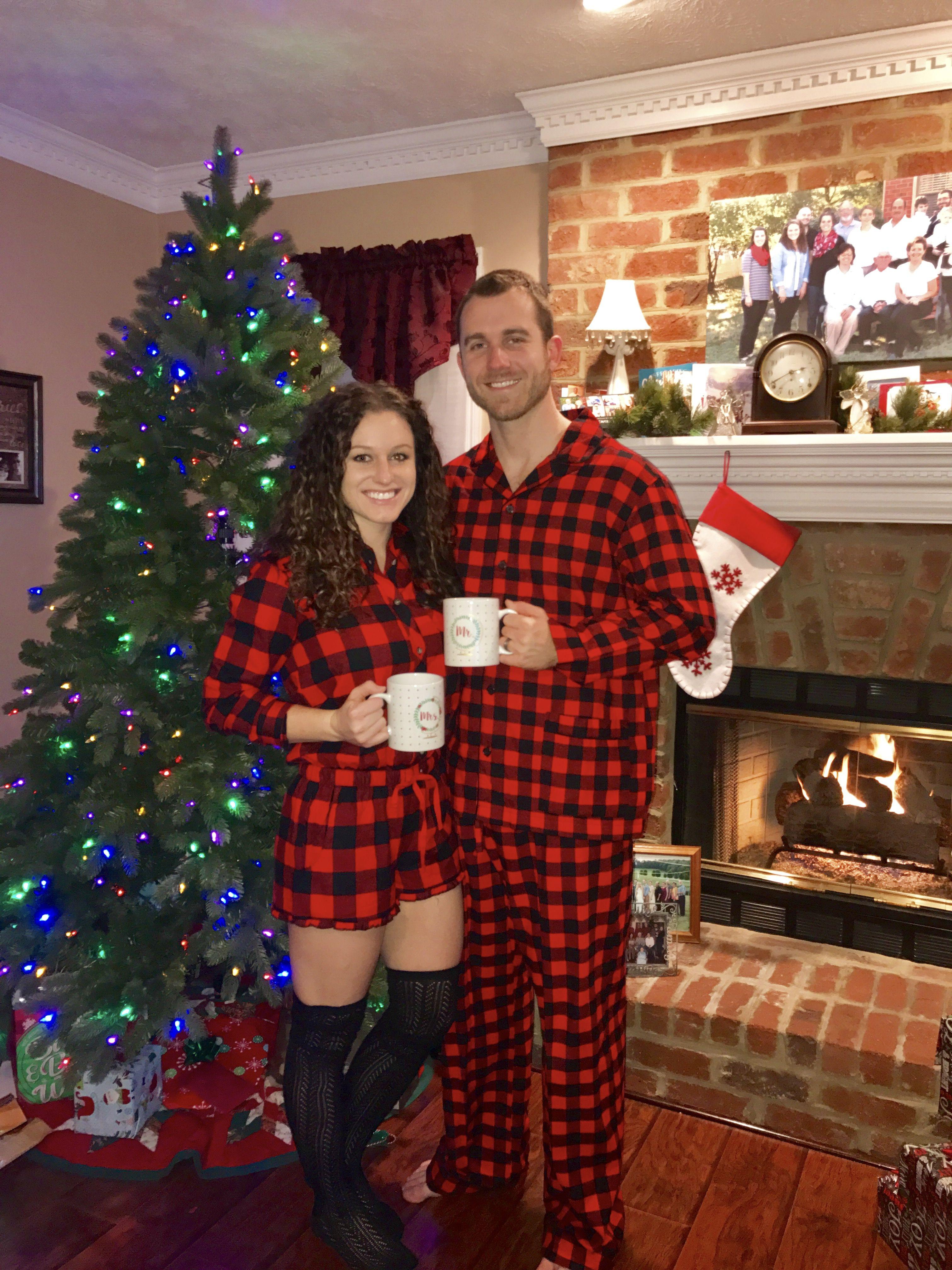 Couples Matching Christmas morning pjs Christmas morning