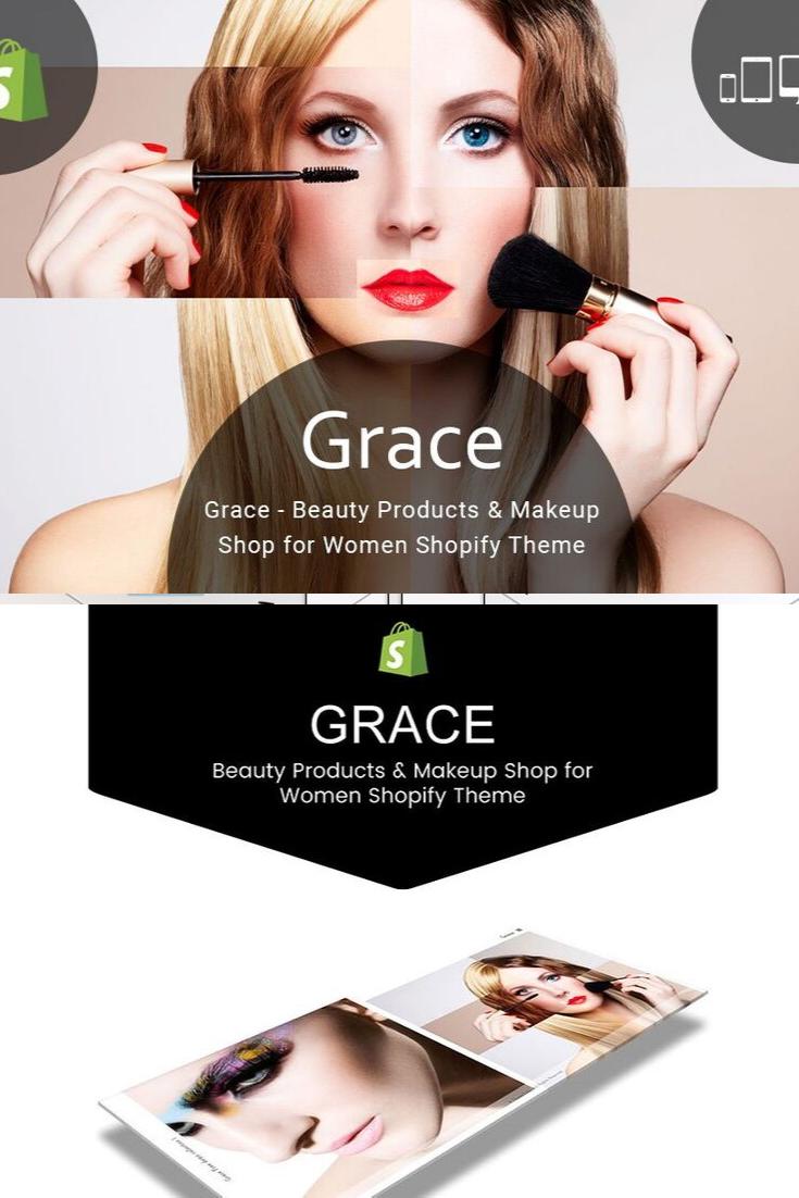 Grace Beauty Makeup Shopify Theme Custom site, Beautiful