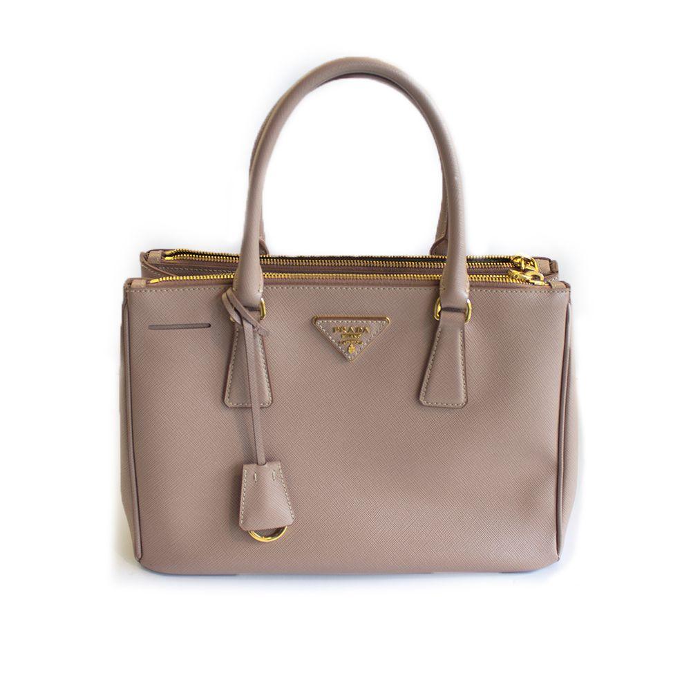 75d3d8cf06c6 Prada Saffiano Top Handle Bag with Double Zip
