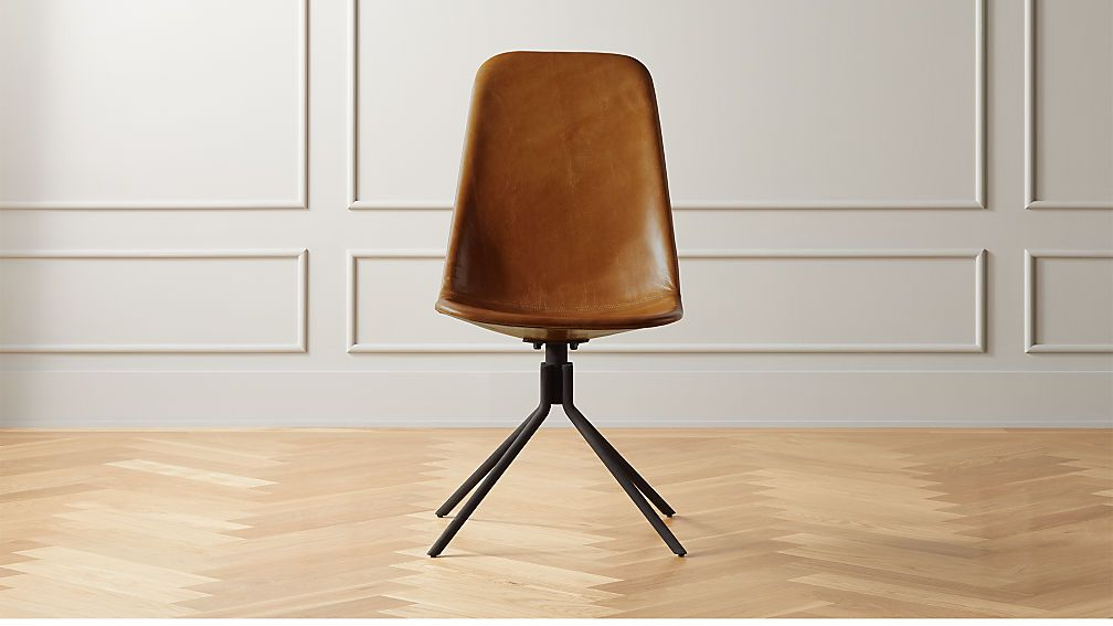 Carine Brown Leather Office Chair Brown Leather Office Chair
