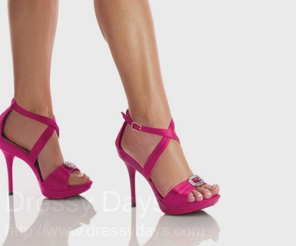 Grey Bridesmaid Dresses Fuschia Shoes 26