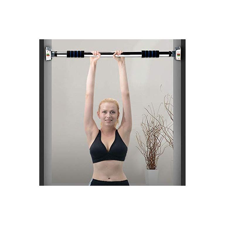 Heavy Duty Chin up Bar Wall Bar with Adjustable Width Pull Up Bar No Screw Installation Doorway Exercise Bar with Locking Mechanism