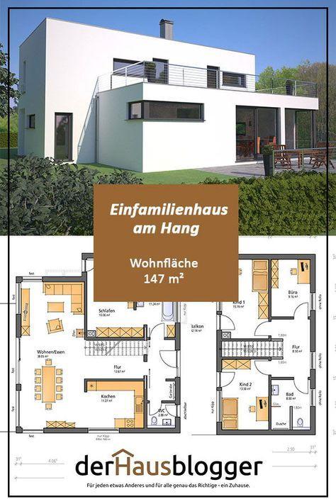 hanghaus wohnflaeche 147 m2 in 2019 haus grundriss. Black Bedroom Furniture Sets. Home Design Ideas