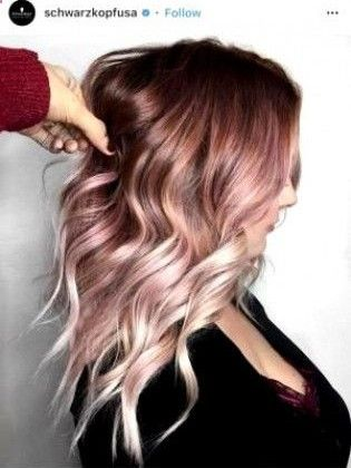 32 Examples Of Rose Gold Balayage Haircuts Hair Styles Ombre Hair Color Gold Hair