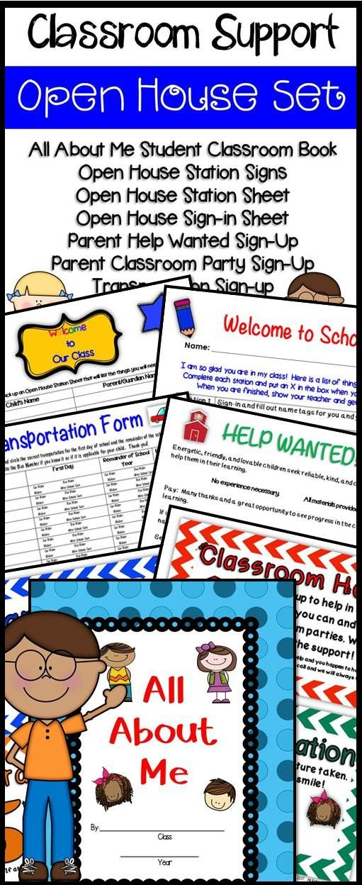 Open House Ideas - student sign in sheet