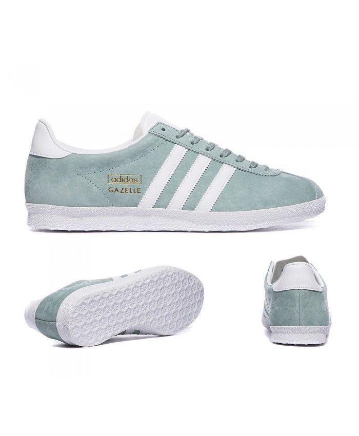 Adidas Sale Originals Gazelle Og Legend Green And White Trainers ... 123b6cadd56a