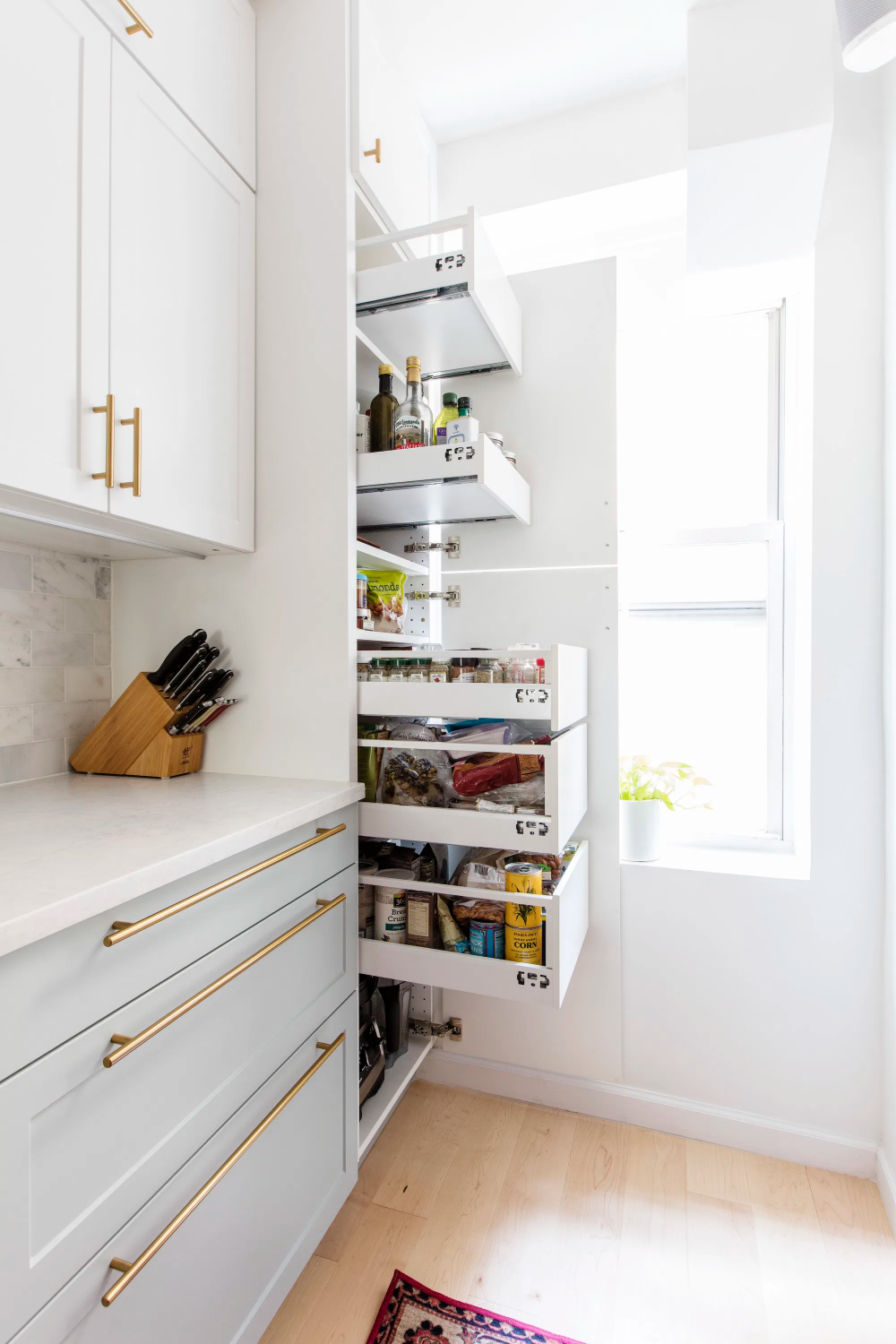 Still a Galley Kitchen—With a Bright Pass-through