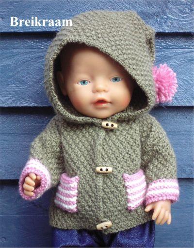 Breipatroon Babyborn Jasje Met Capuchon Baby Born Fôt Knitting