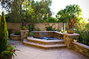 Inground Spa Design Ideas Pictures Remodel And Decor Hot Tub