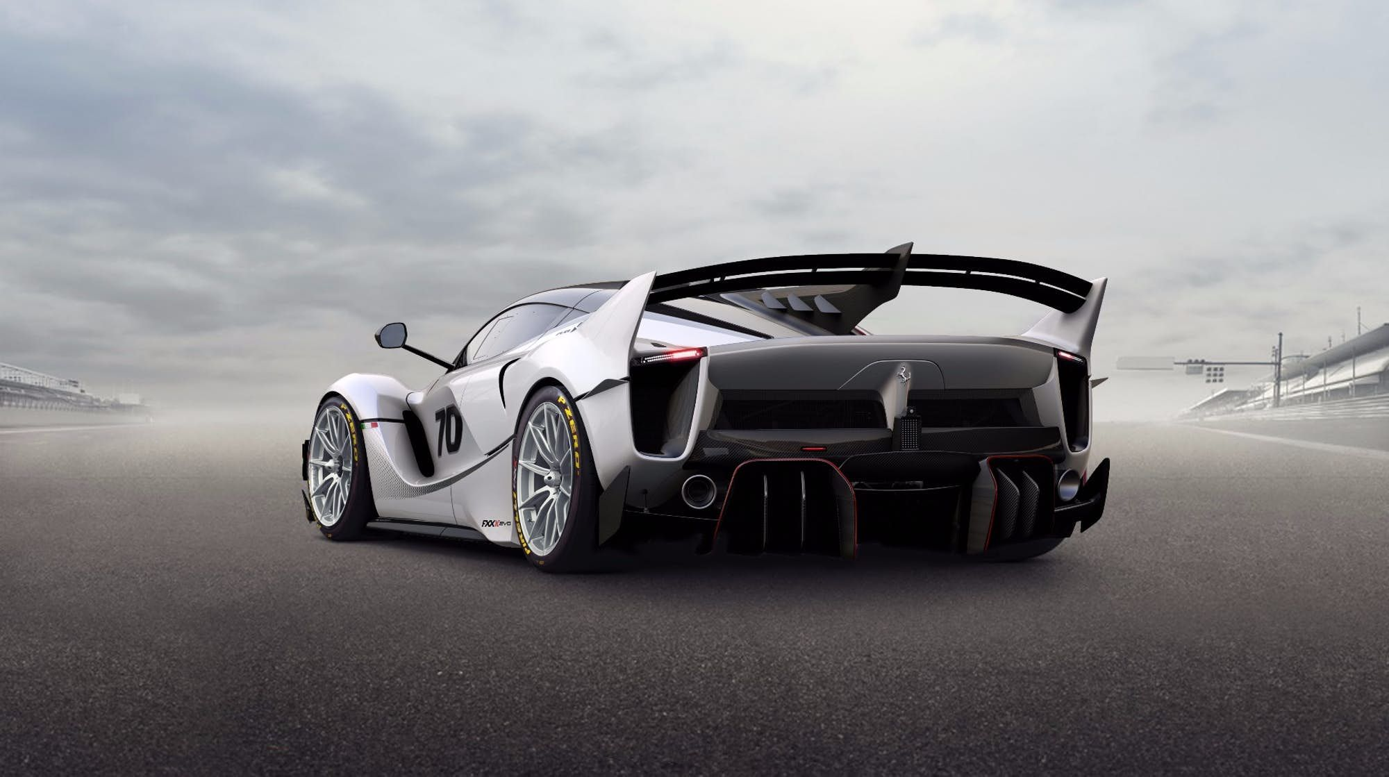 2018 Ferrari Fxx K Evo Revised Rear Bumpers Help Squeeze Extra Downforce Out Of The Diffusers Ferrari Fxx Ferrari Ferrari Fxxk Ferrari laferrari fxx k evo rear