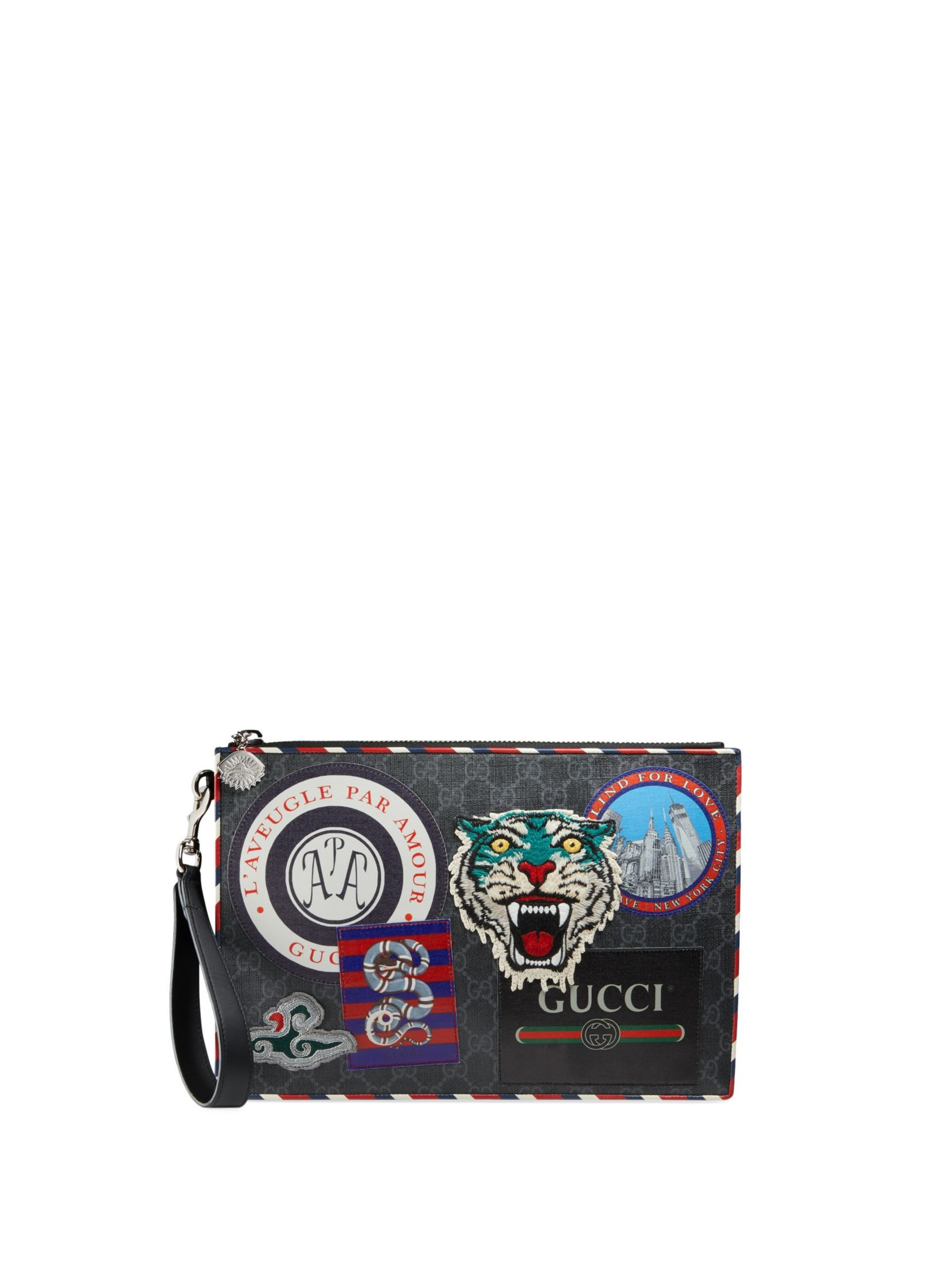 93a21672c5d76 Gucci Night Courrier GG Supreme Pouch