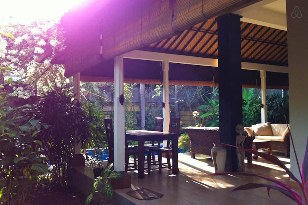 2br Seminyak Villa by KuDeTa beach. View from garden