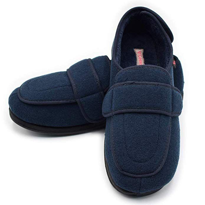 20e9945d6c1c Mei MACLEOD Women s Diabetic Edema Swelling Feet Extra Wide Width Closures  Slipper Review