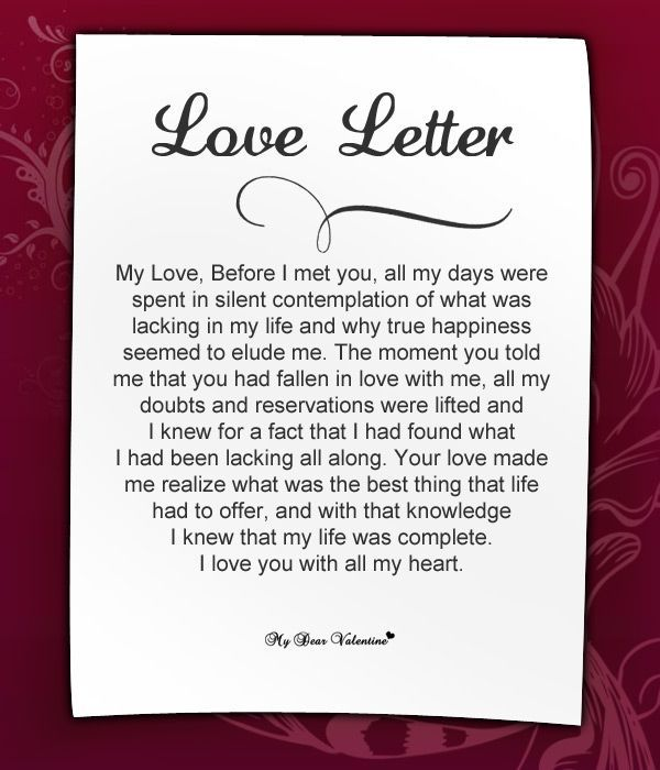 Love letter poem for him