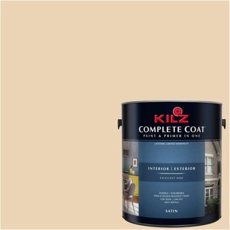Kilz Complete Coat Interior/Exterior Paint & Primer in One, #LD210-02 Ginger Root, Orange