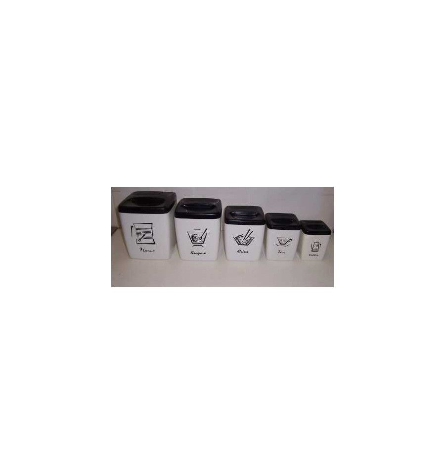 Black And White Kitchen Canister Sets