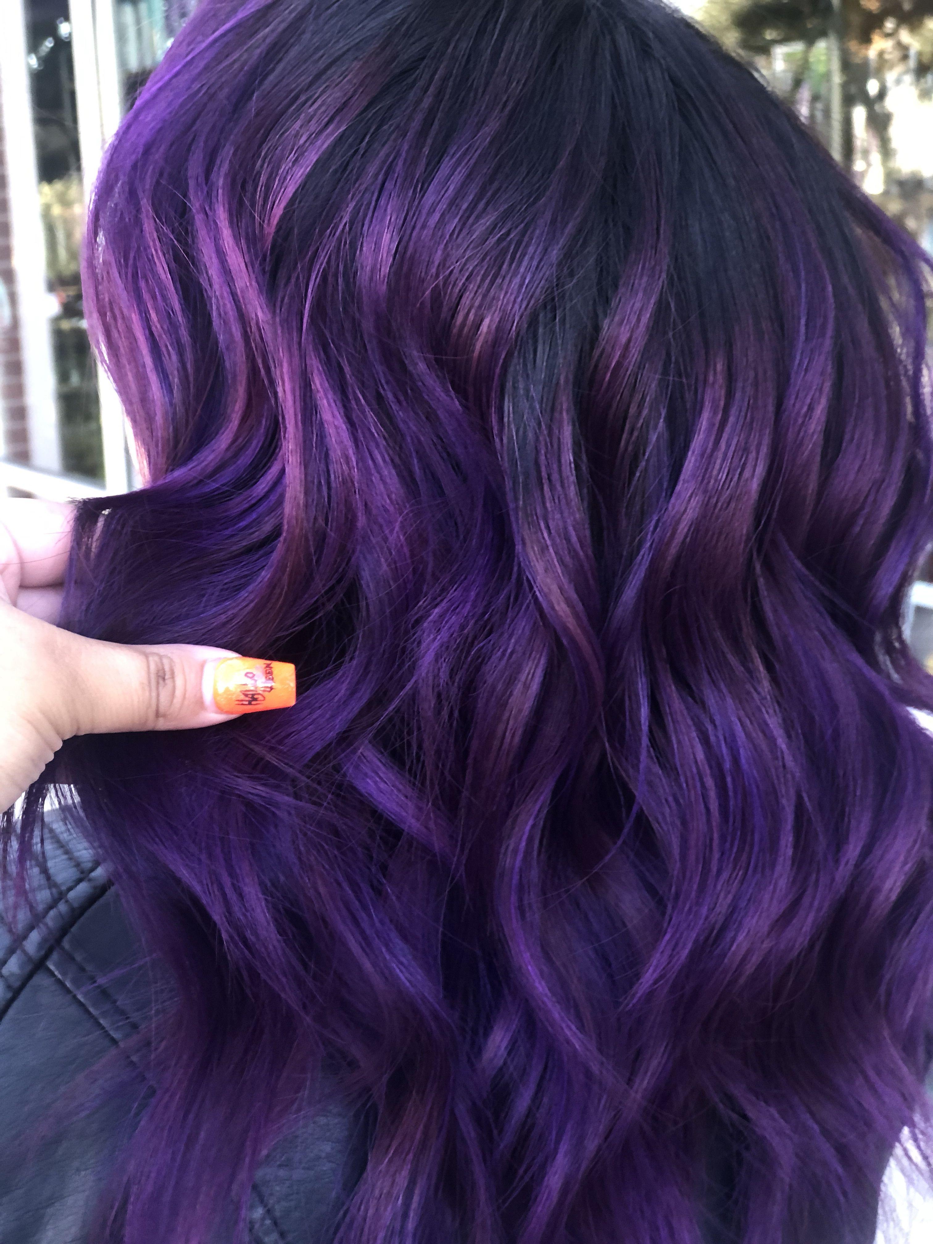 Eggplant Hair Color Eggplant Colored Hair Cool Hair Color Hair Dye Colors