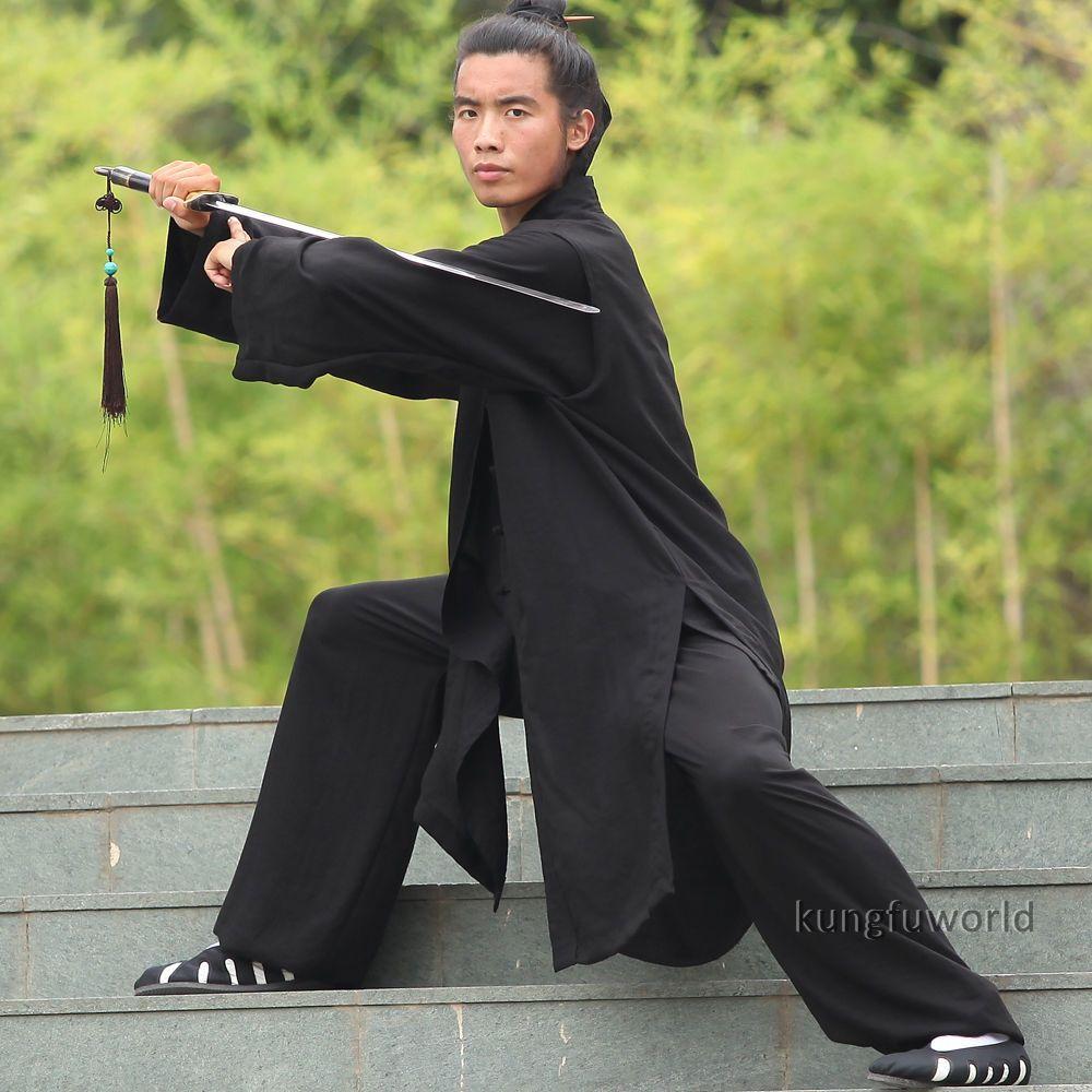 bab8c74bc80 3 Pieces Wudang Taoist Robe Tai chi Uniform Martial arts Kung fu Wing Chun  Suit