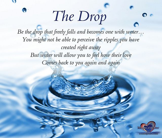 Inspirational Quote: The Drop | Raising Awareness | Inspirational