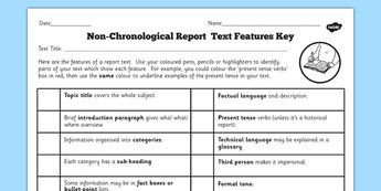 Ks2 Non Chronological Reports Primary Resources Page 1 Non Chronological Reports Text Features Report Writing
