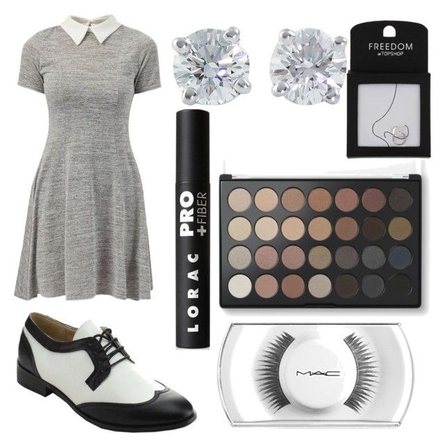 """""""Style 13"""" by lillypad77904 ❤ liked on Polyvore featuring Cameo Rose, miim, Tiffany & Co., Topshop and LORAC"""