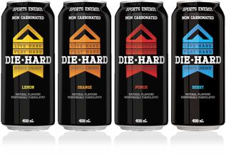 Brand Profile Die Hard Sports Energy Drink Leading Brands Inc Cerveja Latas Embalagens