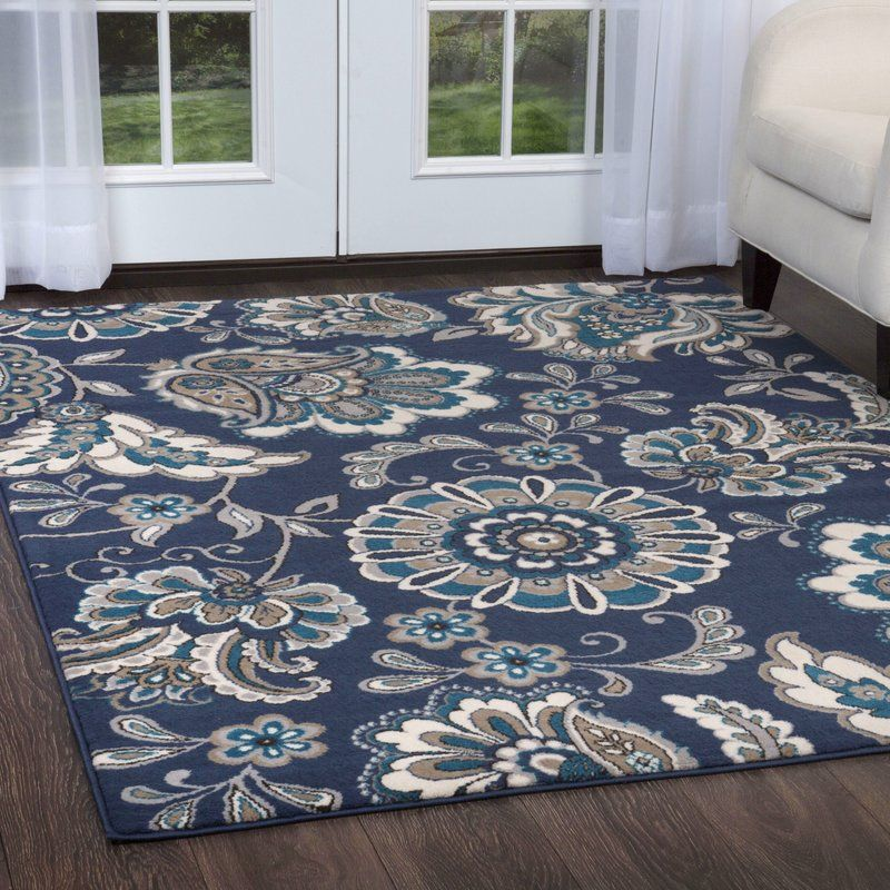 Albion Floral Blue Area Rug Area Rugs Blue Area Rugs Blue Area