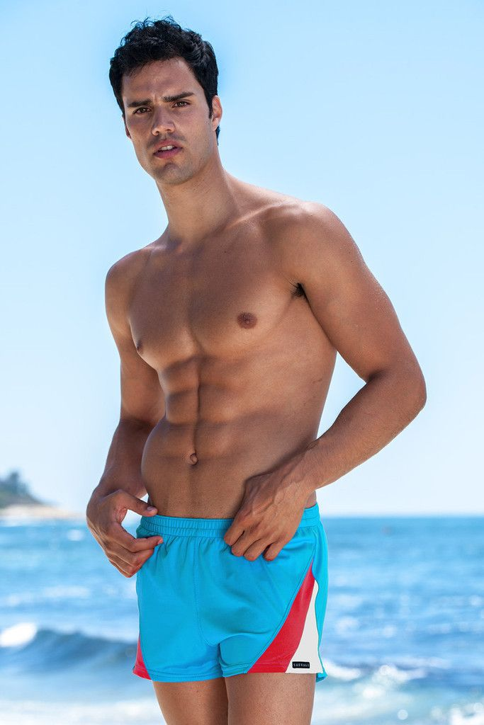 6711e34704de5 Sauvage Mens Swim Trunks - Turquoise - Don't let the name fool you.