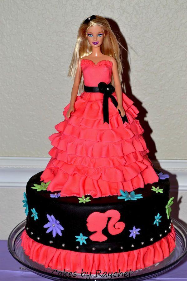 Barbieballerinaprincessthemebirthdaycakescupcakesmumbai - Birthday cake doll princess