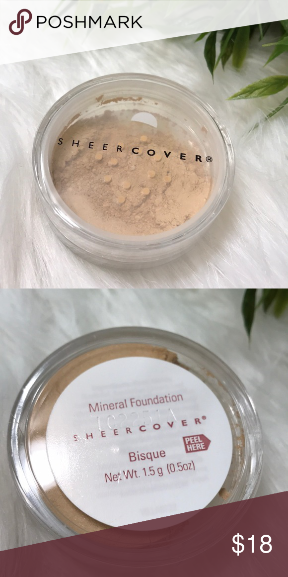 NWT Sheer cover mineral powder foundation Bisque NWT