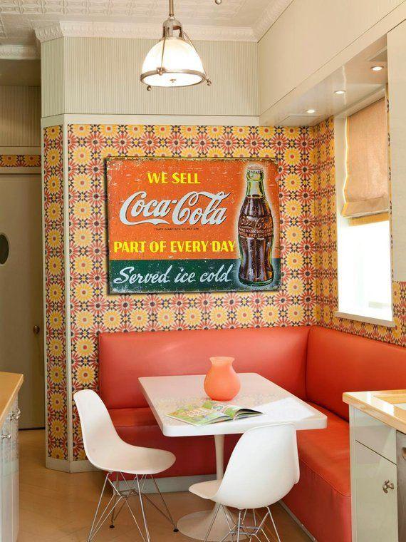 Photo of a Vintage Coke Sign Kitchen Wall Art Coca-Cola   Etsy