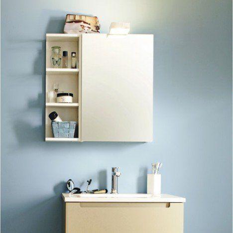 Armoire de toilette, blanc, l.40 cm SENSEA Modulo | salle de bain ...