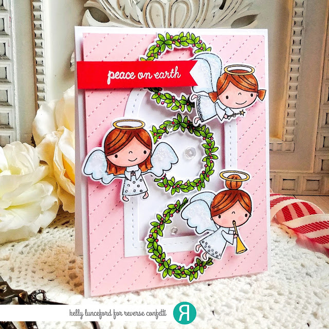 Peace On Earth Reverseconfetti Stamped Christmas Cards Cool Cards Traditional Christmas Cards
