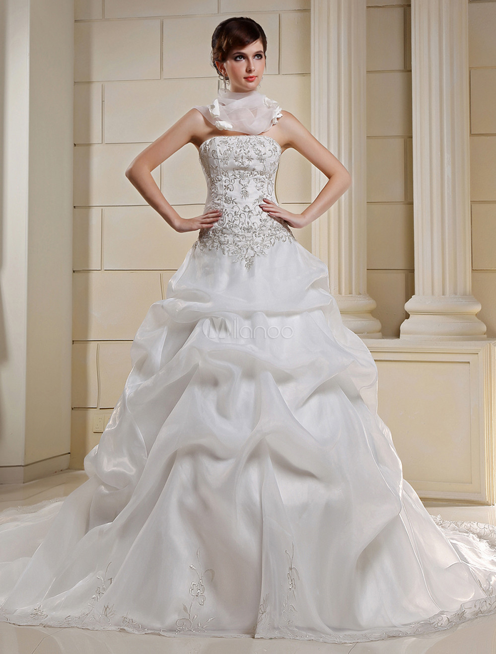 #Milanoo.com Ltd          #Wedding Dresses          #Style #Ball #Gown #Strapless #Beading #Embroidery #Satin #Organza #Wedding #Dress                      Style Ball Gown Strapless Beading Embroidery Satin Organza Wedding Dress                                http://www.snaproduct.com/product.aspx?PID=5682156