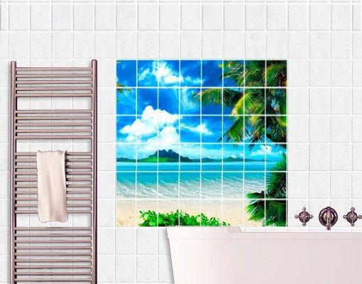 Fliesenbild Traumurlaub | Dusche | Pinterest Fliesenbilder Fr Dusche