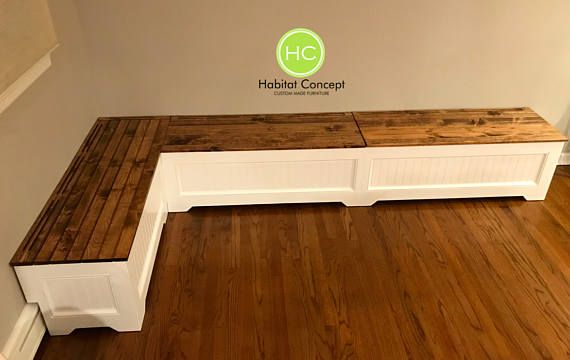 Banquette Corner Bench Kitchen Seating L Shaped Bench Breakfast Nook With Flooring Vent Or Baseboard Heating Free Shipping Baseboards Baseboard Heating Kitchen Seating
