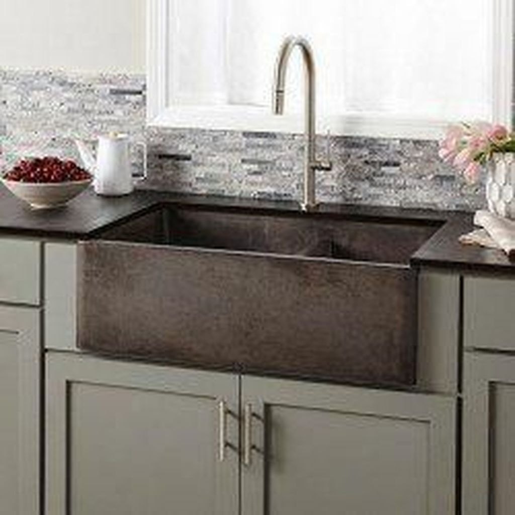 32 The Best Farmhouse Kitchen Sink Ideas You Must Have In 2020 Apron Front Kitchen Sink Kitchen Trends Interior Design Kitchen