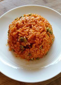 Djuvec Reis - mit Paprikacreme und Erbsen #recipeforstuffedpeppers