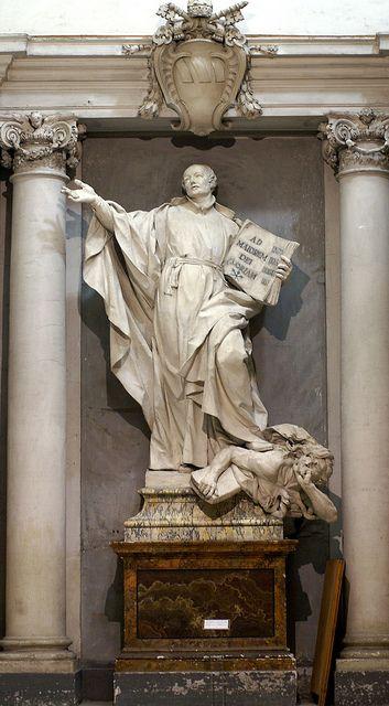 Rom, Sant'Ignazio di Loyola, Statue des hl. Ignatius (Statue of St. Ignatius) by HEN-Magonza, via Flickr