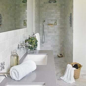 Gray Quartz Bathroom Countertop Customer Ideas Bathrooms