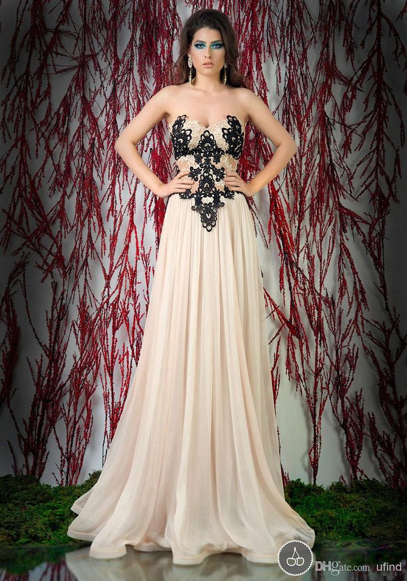 Wholesales!!! Discount 2014 Free Shipping Chiffon Appiques Long Dress Party Strapless Evening Dresses Elegant $127.68