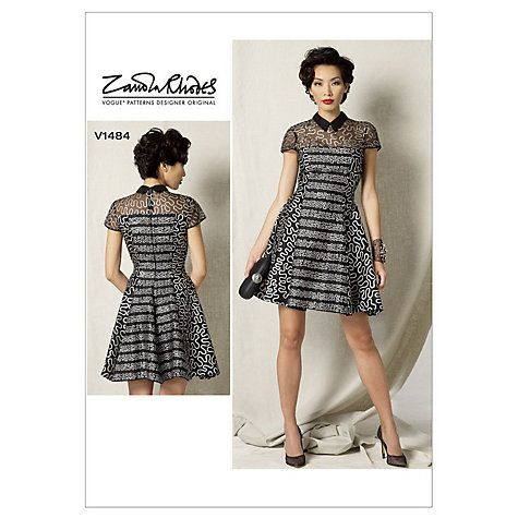 Vogue Women\'s Petite Fit and Flare Dress Sewing Pattern, 1484