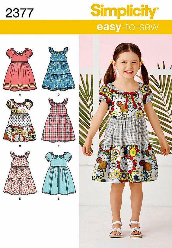 Girls Easy Dress Pattern Peasant Dress Pattern Girls Por Blue510