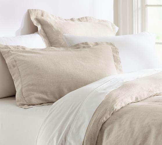 Belgian Linen Flax Duvet Cover Sham Linen Duvet Covers Bed Linens Luxury Linen Duvet