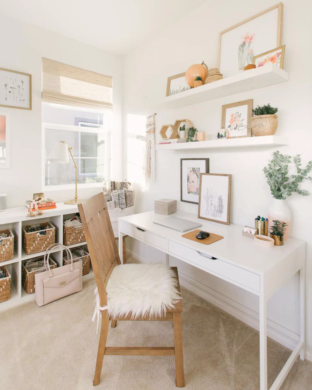 10 Homeschool Desk Ideas To Inspire Your Remote Learning Space Blinds Com In 2020 Home Office Decor Home Office Space Small Home Office