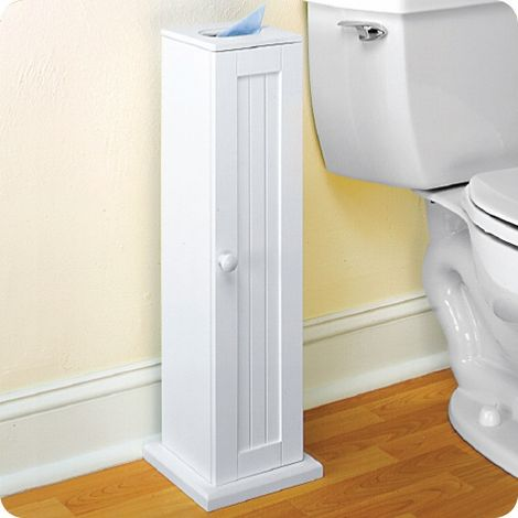 Country Cottage White Toilet Paper Cabinet Storage Tower Free Standing Walmart Com Bathroom Storage Tower Toilet Paper Storage Bathrooms Remodel