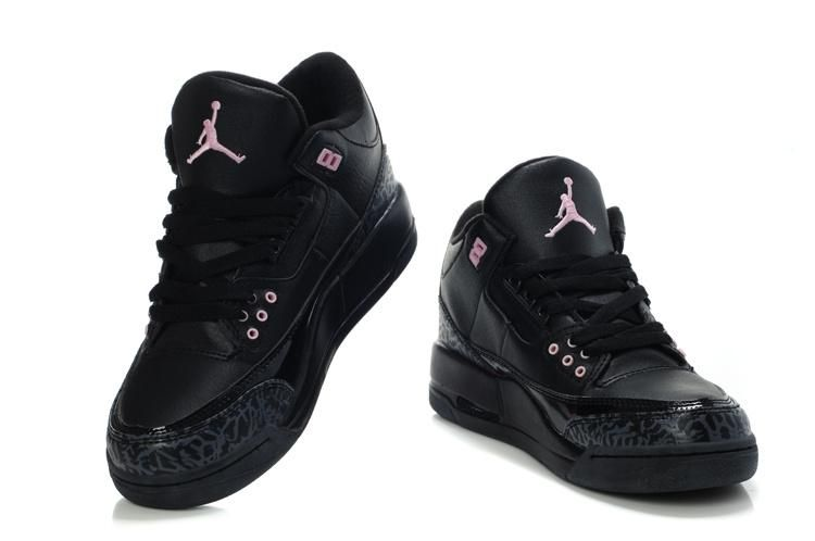uk availability d49e9 bd873 Jordans shoes Women   jordan 3 women air jordan 3 all black larger image